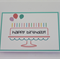 Cake, candles & balloons birthday card