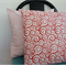 SALE HALF PRICE Cushion Cover retro red swirls 40cm (16inch)
