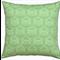 Timeless Damask - Two Tone Green Cotton Cushion / Pillow