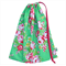Beautiful Library Bag or Toy Bag. Roses on Stunning Green. Personalise it!