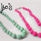 Toddler silicone necklaces suitable for teething