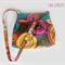Multi-coloured Circle Hobo style handbag