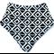 Black & white diamond bandana bib