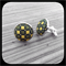 Checkered Gold: Large Bezel Set Cufflinks