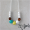 Summer Breeze geometric mama necklace