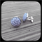 Onion Cell in Grey: Large Bezel Set Cufflinks