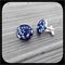 Banskia Blue: Large Bezel Set Cufflinks