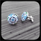 Floral Quadratic: Large Bezel Set Cufflinks