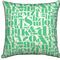Typed Cream with Green Letters Cushion / Pillow