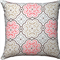 Coral and Cream Swirl Pattern Cushion / Pillow
