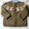 Baby Jacket, Koala Fair Isle Yoke, to fit 6 ~ 9M