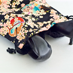 Black cherry -Travel bag for shoes and accessories