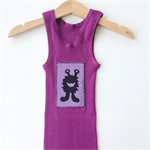 Fun Brightly Coloured Baby Singlets, Screen printed Happy Monsters, size 0