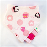 HELLO KITTY POLKADOTS ~  BANDANA DRIBBLE TEETHING SENSORY BIB for GIRLS