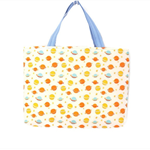 Carry All Tote Bag / Library Bag / Kindergarten Tote - Spaceships Planets Yellow