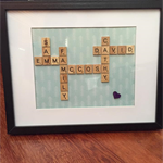 "11"" x 14"" PERSONALISED SCRABBLE FRAME"