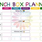 Personalised Lunch Box Planner