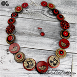Bring Back the Beat - Musical Note Button Necklace - Button Jewellery - Earrings