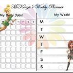 Disney Fairies - Kids Personalised Planners