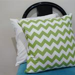 Pillow Cover Cushion cover throw Green chevron 40cm 16 inches