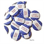 10 Medium badges - hens party personalised badges - Nautical themed