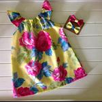 Girls Summer tropics  Mia dress