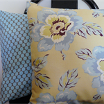 Cushion Cover Mothers Day Sky Blue Flowers Amy Butler 40cm 16 inches