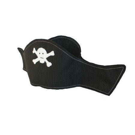 Pirate Hat/ Black and White / Felt / Costume/ Pirate Party / Dress Up