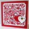 I Heart U Valentine Card