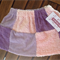 Vintage Chenille Patchwork Purple and Pink Skirt