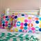 "Pillowcase ""stylish spot"" 100% cotton bright bold simple fun envelope finish"