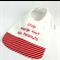 Allergy Alert Bib - No Peanut Cotton Fabric, Bamboo Toweling, Snap fastened