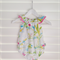 "Romper Playsuit ""flamingo water colour"" Gorgeous fresh design for summer fun"