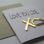 'Love you like XO' Card