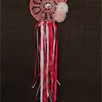 Hand dyed - Pretty in pink dreamcatcher