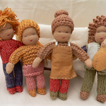 Dollhouse Family - miniature organic waldorf family