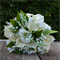 Silk wedding bouquet in shades of cream, green - Lily