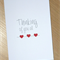Thinking of you all - Sympathy bereavement card - 3 hearts