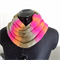 Neon Pink, Olive & Moss Green and Sunset Orange Cowl | Neck Warmer