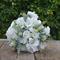 Silk bridesmaid bouquet in shades of white, sage - Maggie bridesmaid bouquet