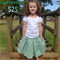 sizes 1-5, green padfoot, charlie rose play skirt