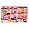 Branch Sitting Owls on Light Pink Zip Pouch / Zippered Case / Zipper Bag