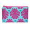 Hot Pink and Blue Damask Zip Pouch / Zippered Case / Zipper Bag / Purse