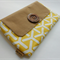 Large clutch / yellow and beige/ modern and stylish / gift / bridesmaid / purse