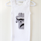 Moustache Print Applique Number 1, 2, 3, 4 Birthday Special Occasion Singlet