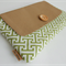 Large clutch / green and brown / natural and elegant / gift / bridesmaid / purse