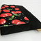 Large clutch / cherries / black / quirky and playful / gift / bridesmaid / purse