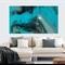 Epoxy Resin Abstract Painting DARK PASSAGE 112cm x 66cm