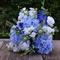 Silk wedding bouquet in shades of blue, white, purple - Maggie