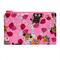 Cute Owls on Pink Zip Pouch / Zippered Case / Zipper Bag